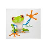 Freddie Frog Throw Blanket