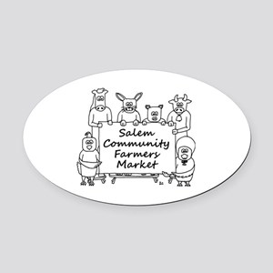Salem Community Farmers Market  Oval Car Magnet