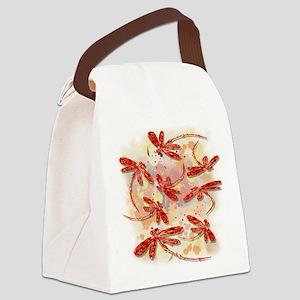 Dragonfly Splash Canvas Lunch Bag