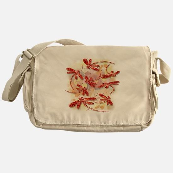 Dragonfly Splash Messenger Bag
