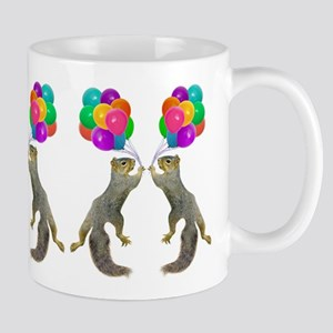 Squirrels with Balloons Mugs