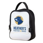 Heathers Foster Dogs Blue/gold Neoprene Lunch Bag
