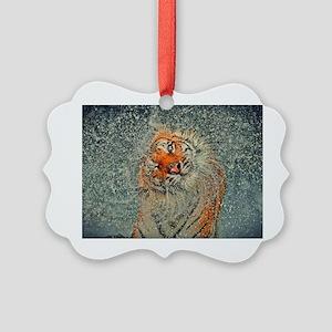 Tiger Rinse Picture Ornament