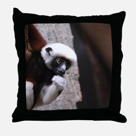 Adorable Safika Lemur Throw Pillow