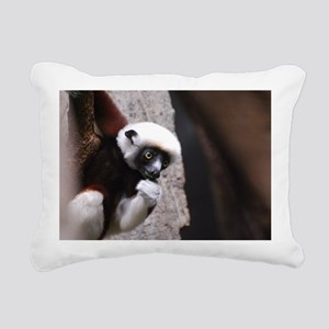 Adorable Safika Lemur Rectangular Canvas Pillow