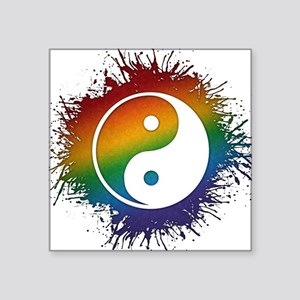 "LGBT Taoism's Yin and Yang Square Sticker 3"" x 3"""