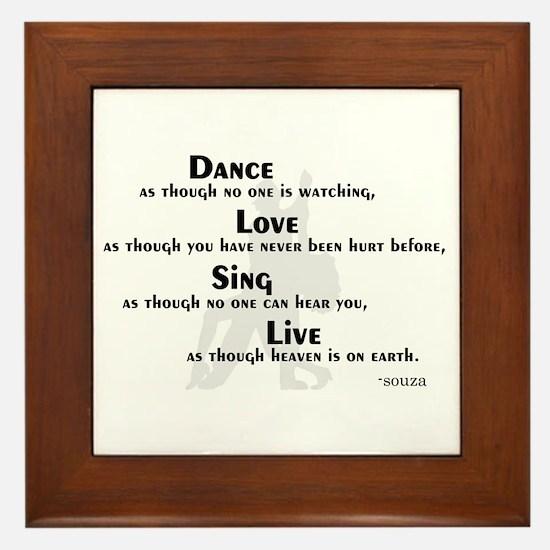 Dance as if... Framed Tile