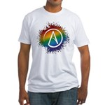 LGBT Atheist Symbol Fitted T-Shirt