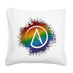 LGBT Atheist Symbol Square Canvas Pillow