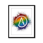 LGBT Atheist Symbol Framed Panel Print