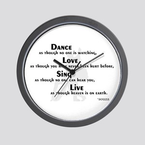 Dance as if... Wall Clock