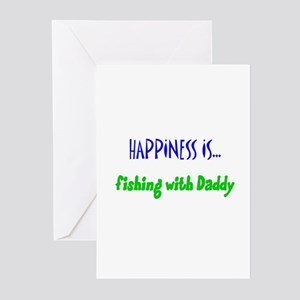 Happiness is Fishing with Dad Greeting Cards (Pack