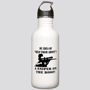 A Sniper On The Roof Stainless Water Bottle 1.0L