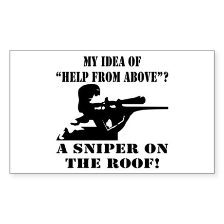 A Sniper On The Roof Sticker (Rectangle)