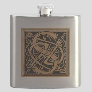 Celtic Monogram S Flask