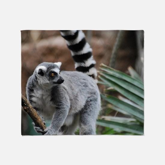 Madagascar Lemur Throw Blanket