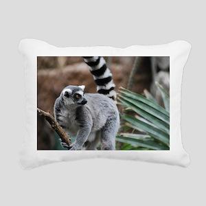 Madagascar Lemur Rectangular Canvas Pillow