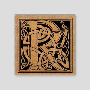 "Celtic Monogram R Square Sticker 3"" x 3"""