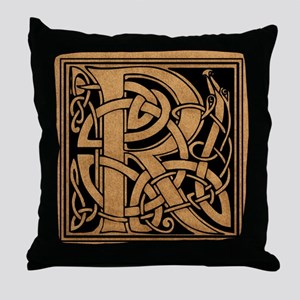 Celtic Monogram R Throw Pillow