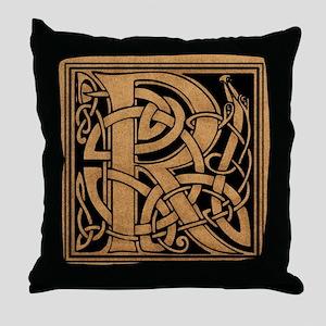 Celtic Monogram R Throw Pillow