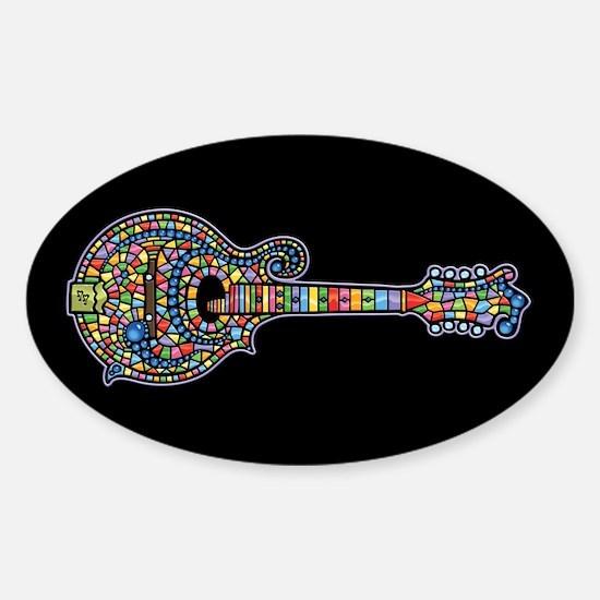Mosaic Mandolin Oval Decal