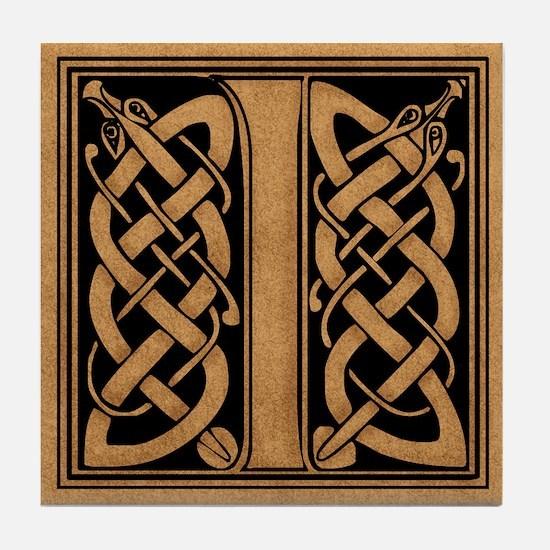 Celtic Monogram I Tile Coaster
