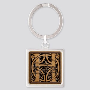 Celtic Monogram H Square Keychain