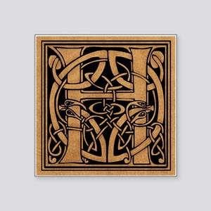 "Celtic Monogram H Square Sticker 3"" x 3"""