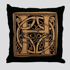 Celtic Monogram H Throw Pillow