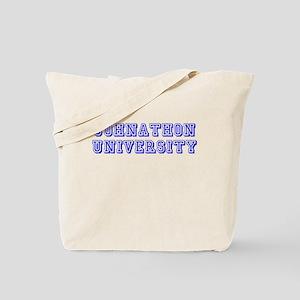 Johnathon University Tote Bag