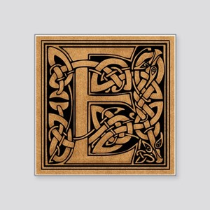 "Celtic Monogram E Square Sticker 3"" x 3"""
