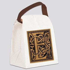 Celtic Monogram E Canvas Lunch Bag