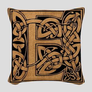 Celtic Monogram E Woven Throw Pillow