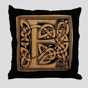 Celtic Monogram E Throw Pillow
