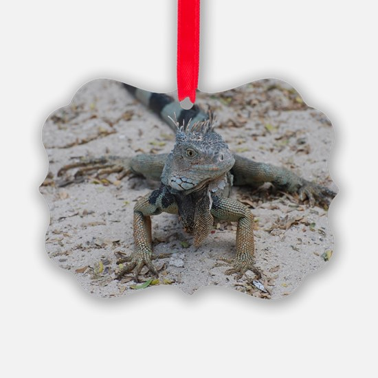 Cute Iguana Ornament