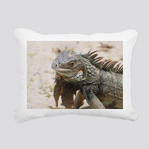 Iguana in the Tropics Rectangular Canvas Pillow