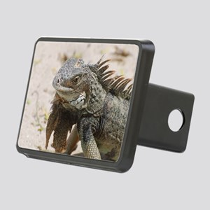 Iguana in the Tropics Rectangular Hitch Cover