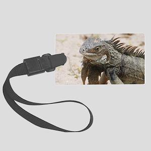 Iguana in the Tropics Large Luggage Tag