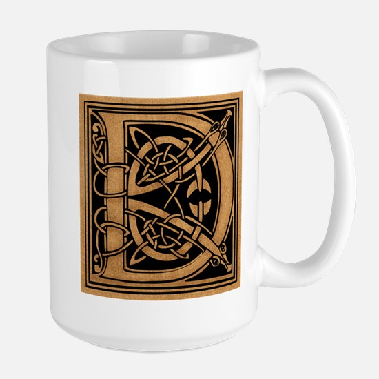 Celtic Monogram D Large Mug