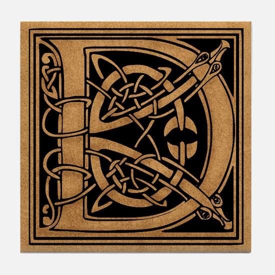 Celtic Monogram D Tile Coaster