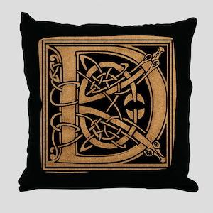 Celtic Monogram D Throw Pillow