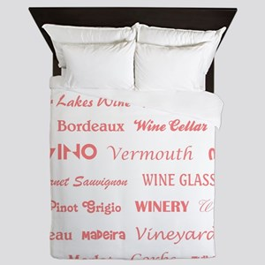 WINE WORDS Queen Duvet