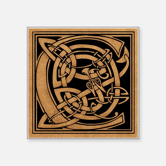 """Celtic Monogram C Square Sticker 3"""" x 3"""""""