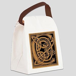 Celtic Monogram C Canvas Lunch Bag
