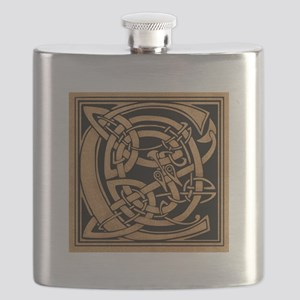 Celtic Monogram C Flask