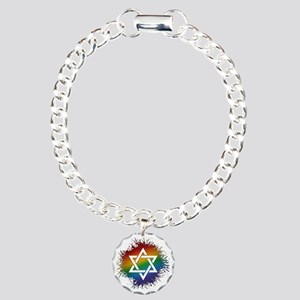 LGBT Judaic Star of Davi Charm Bracelet, One Charm