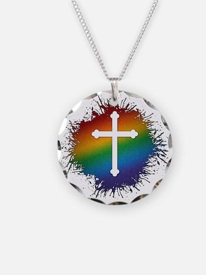 LGBT Christian Cross Necklace