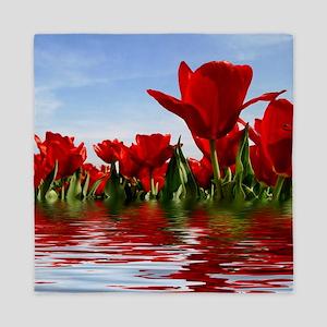Flooded Tulips Queen Duvet