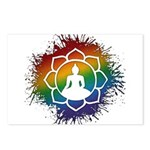 LGBT Buddhist Lotus Postcards (Package of 8)