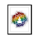 LGBT Buddhist Lotus Framed Panel Print